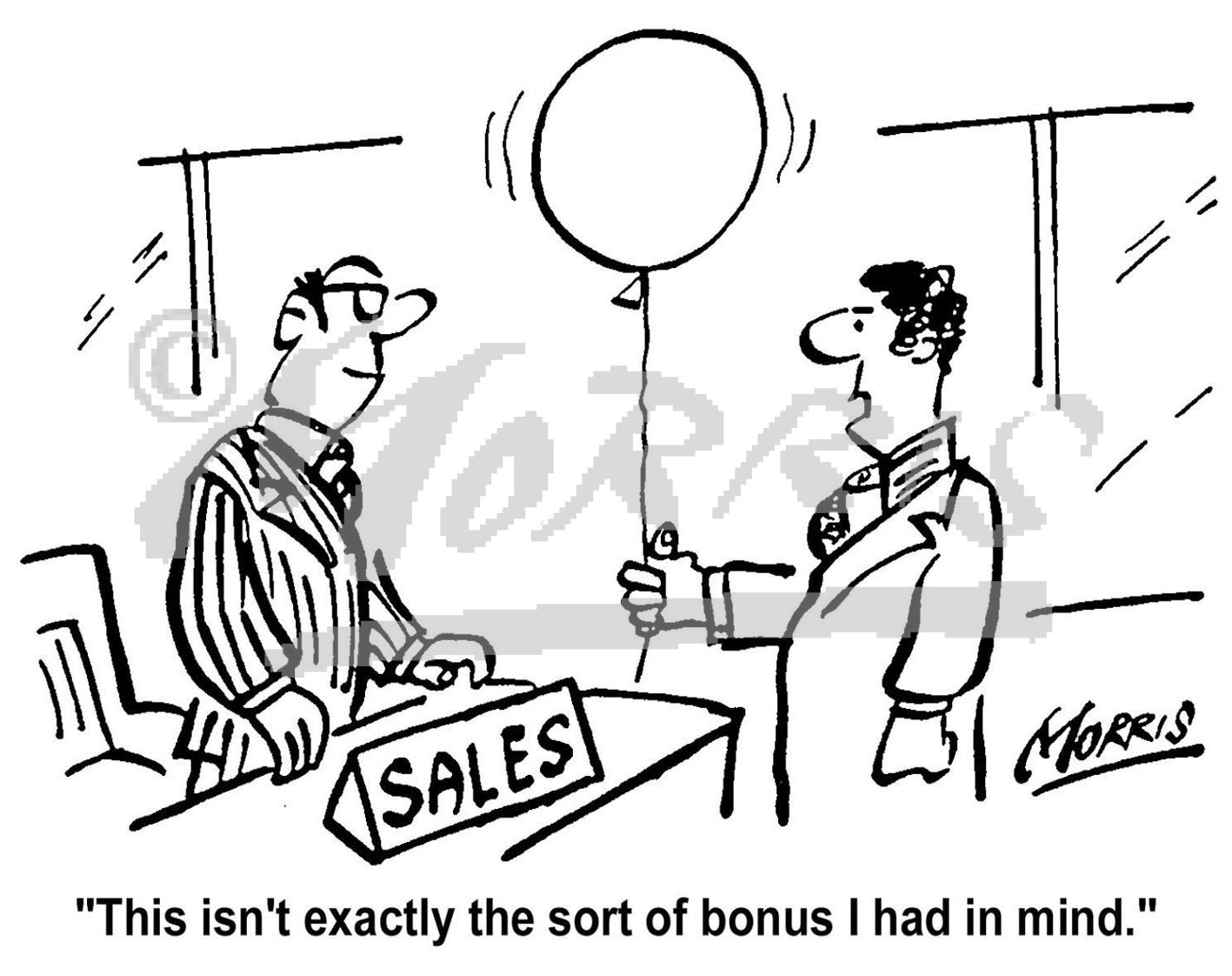 sales bonus business cartoons