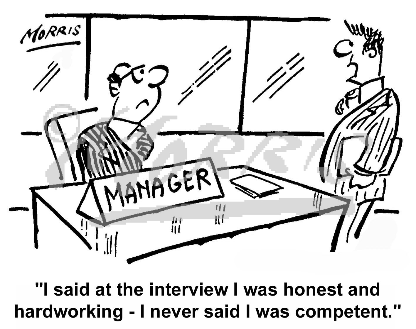 management employee manager business cartoons