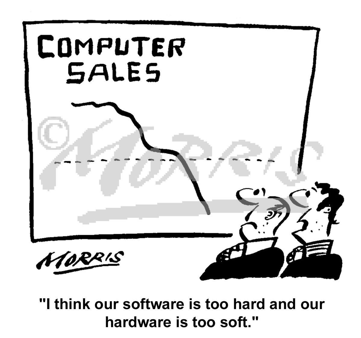 computer information technology sales business cartoons