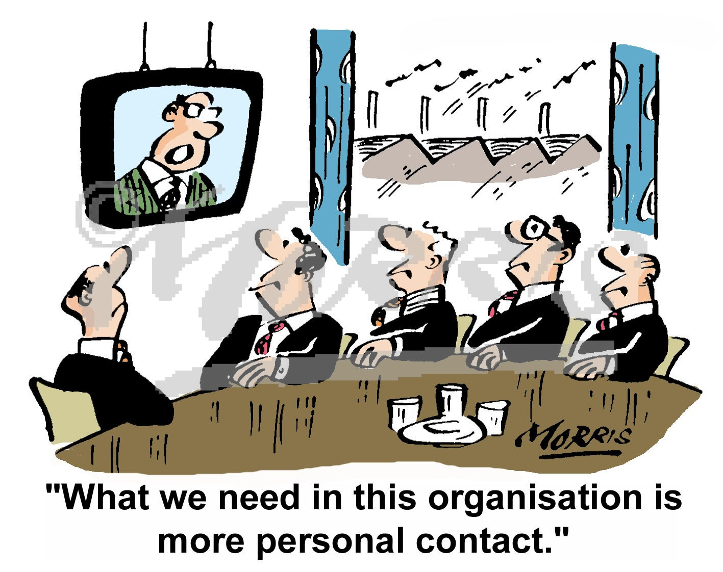 chairman president staff communication business cartoons