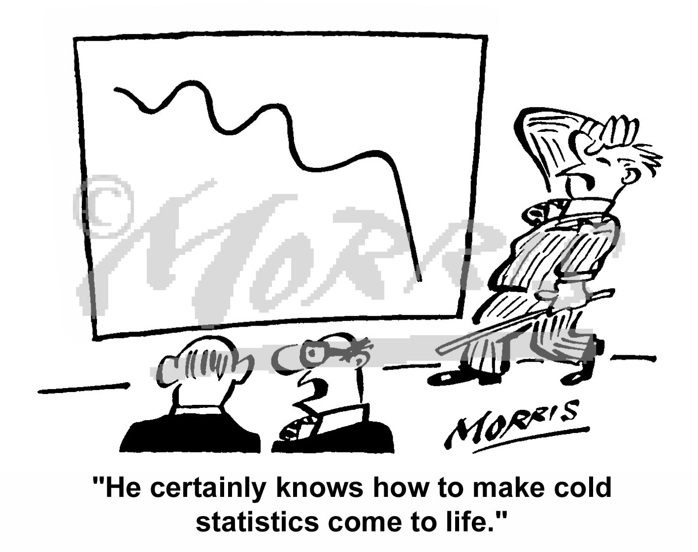business statistics graphs business cartoons