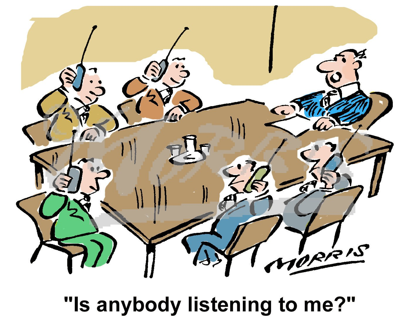 boardroom communications business cartoons