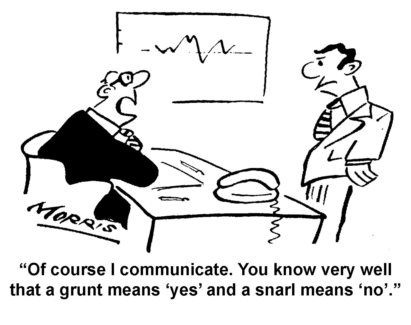 Communication management business cartoons