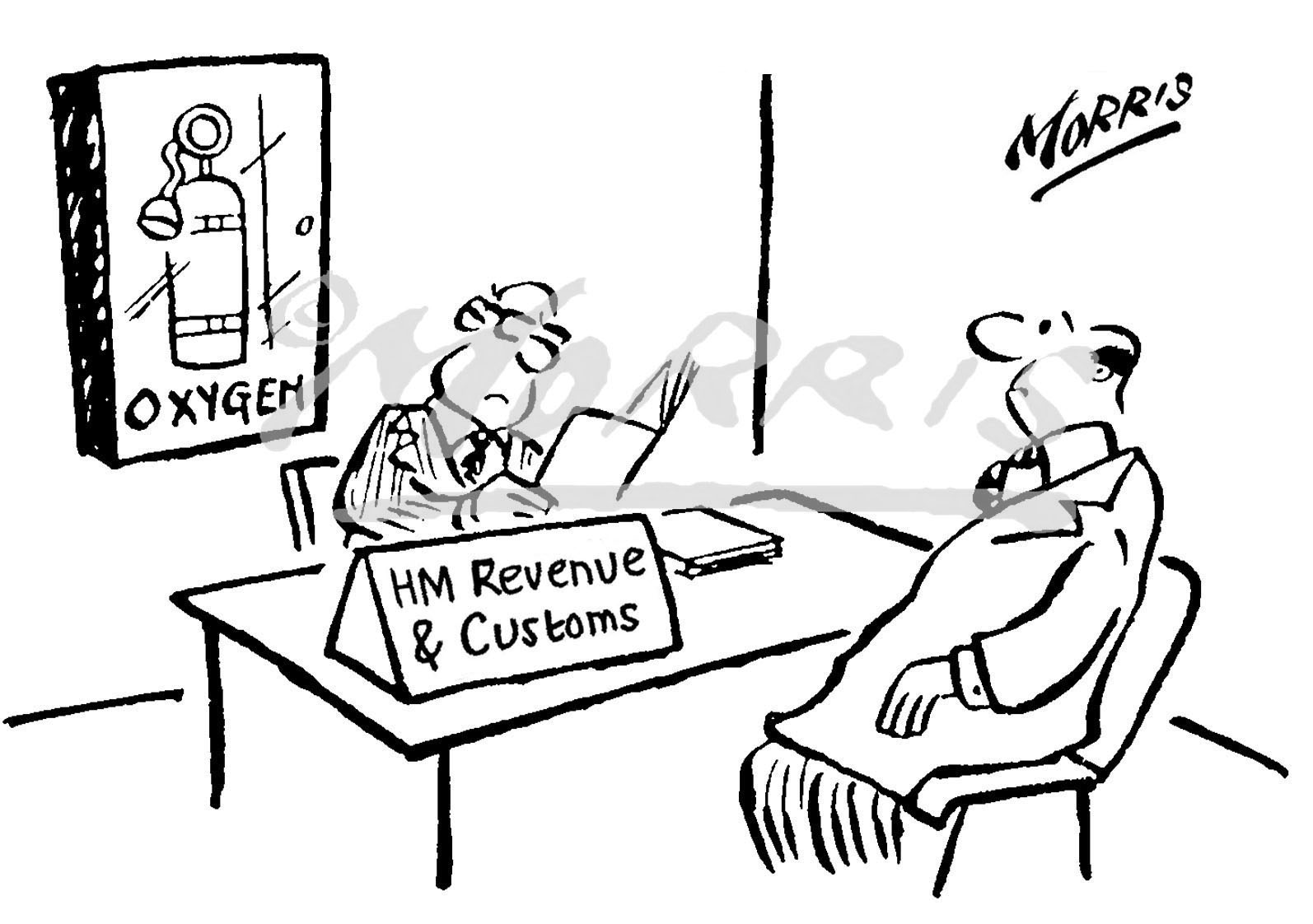 HMRC business cartoon Ref: 0015bw