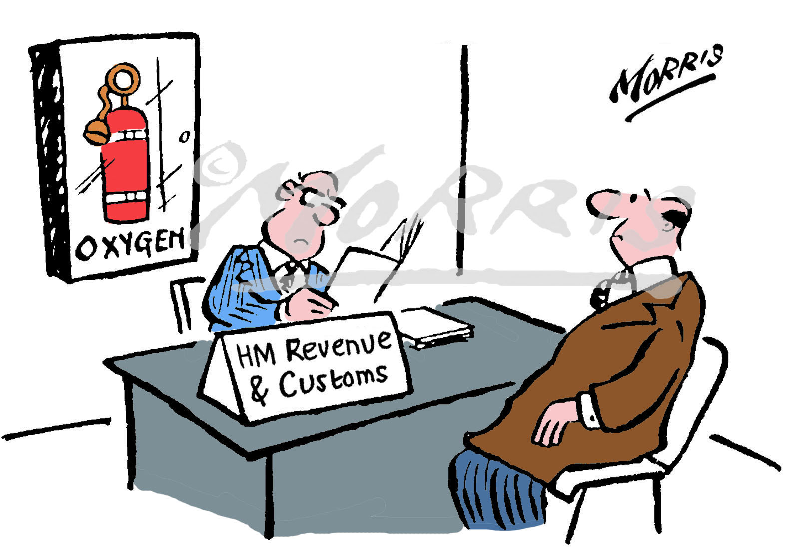 HMRC business cartoon Ref: 0015col