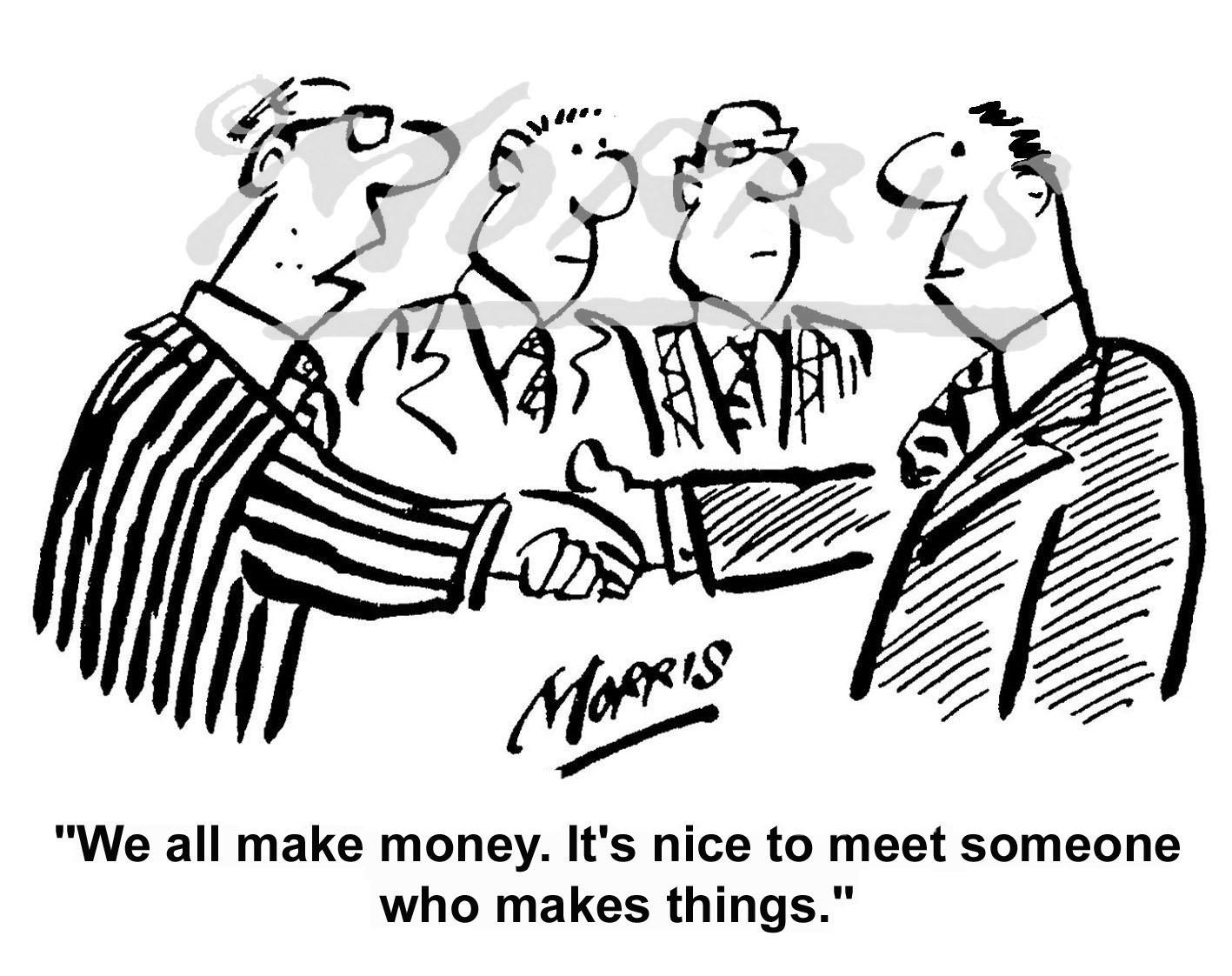 Boardroom business cartoon – Ref: 0071bw