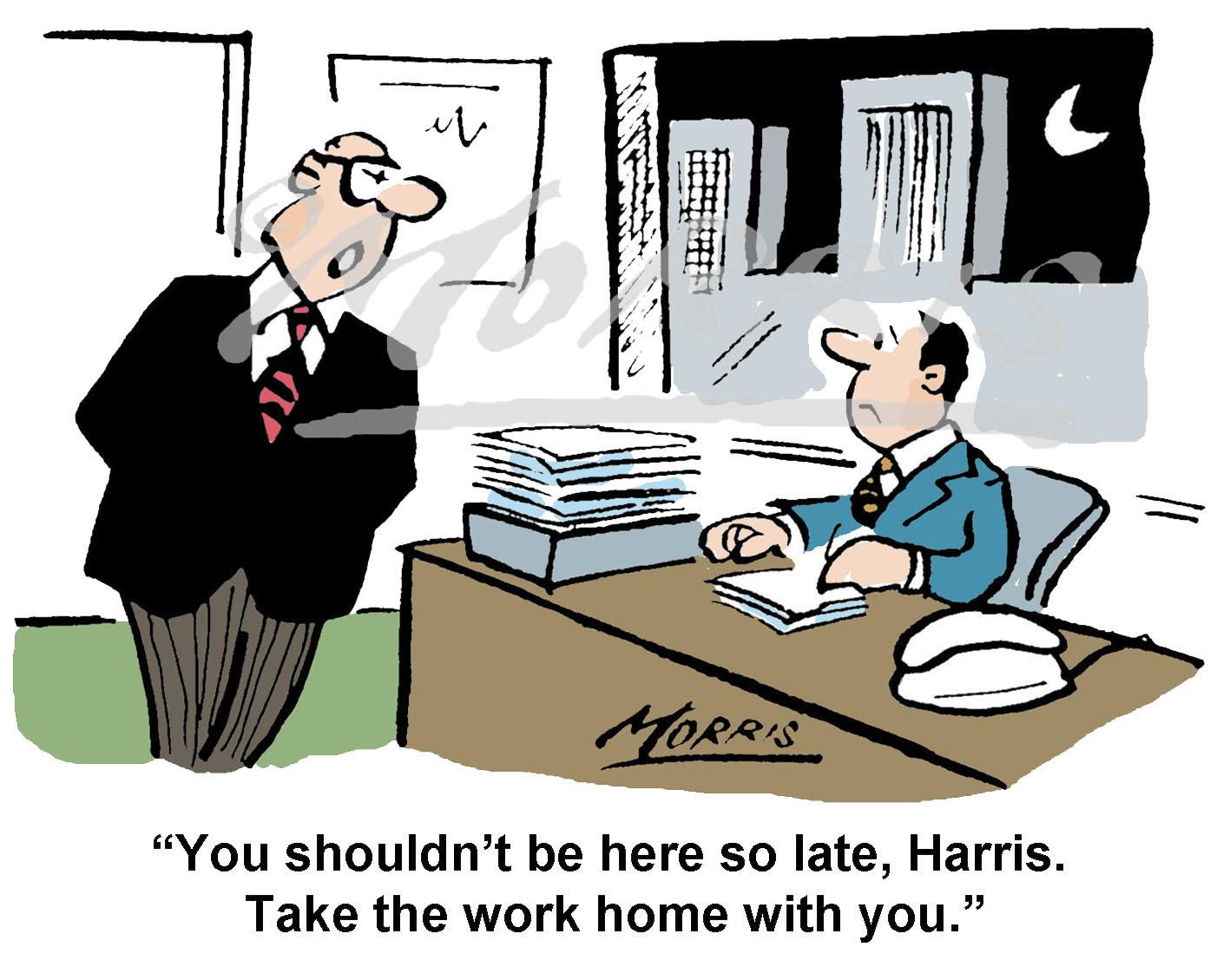 Office Management comic cartoon Ref: 0073col