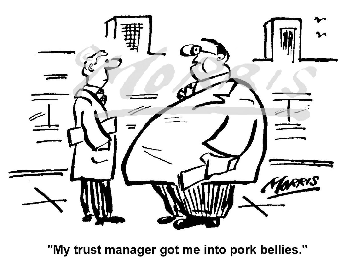 Trust Manager business comic cartoon Ref: 0120bw