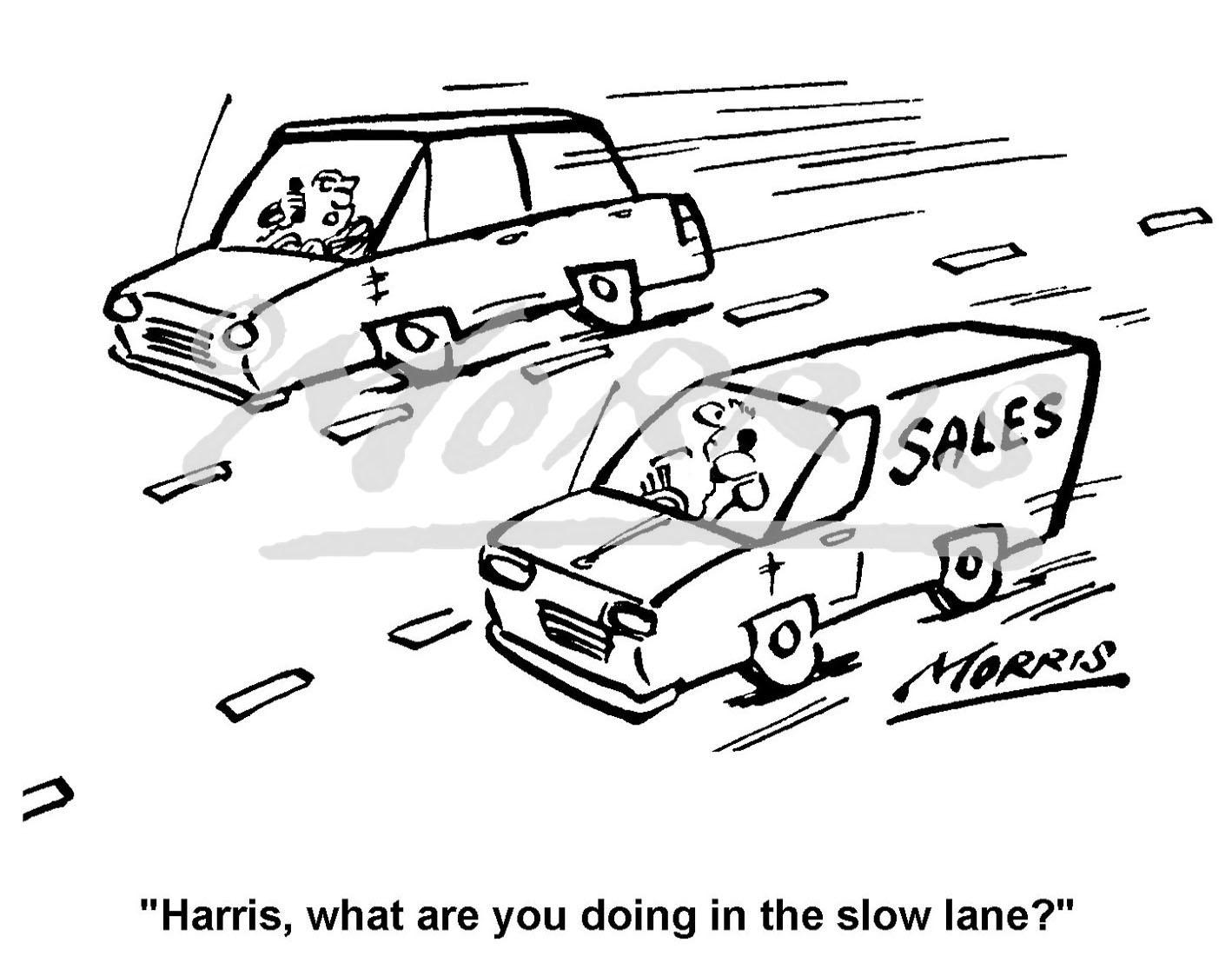 Sales business comic cartoon Ref: 0172bw