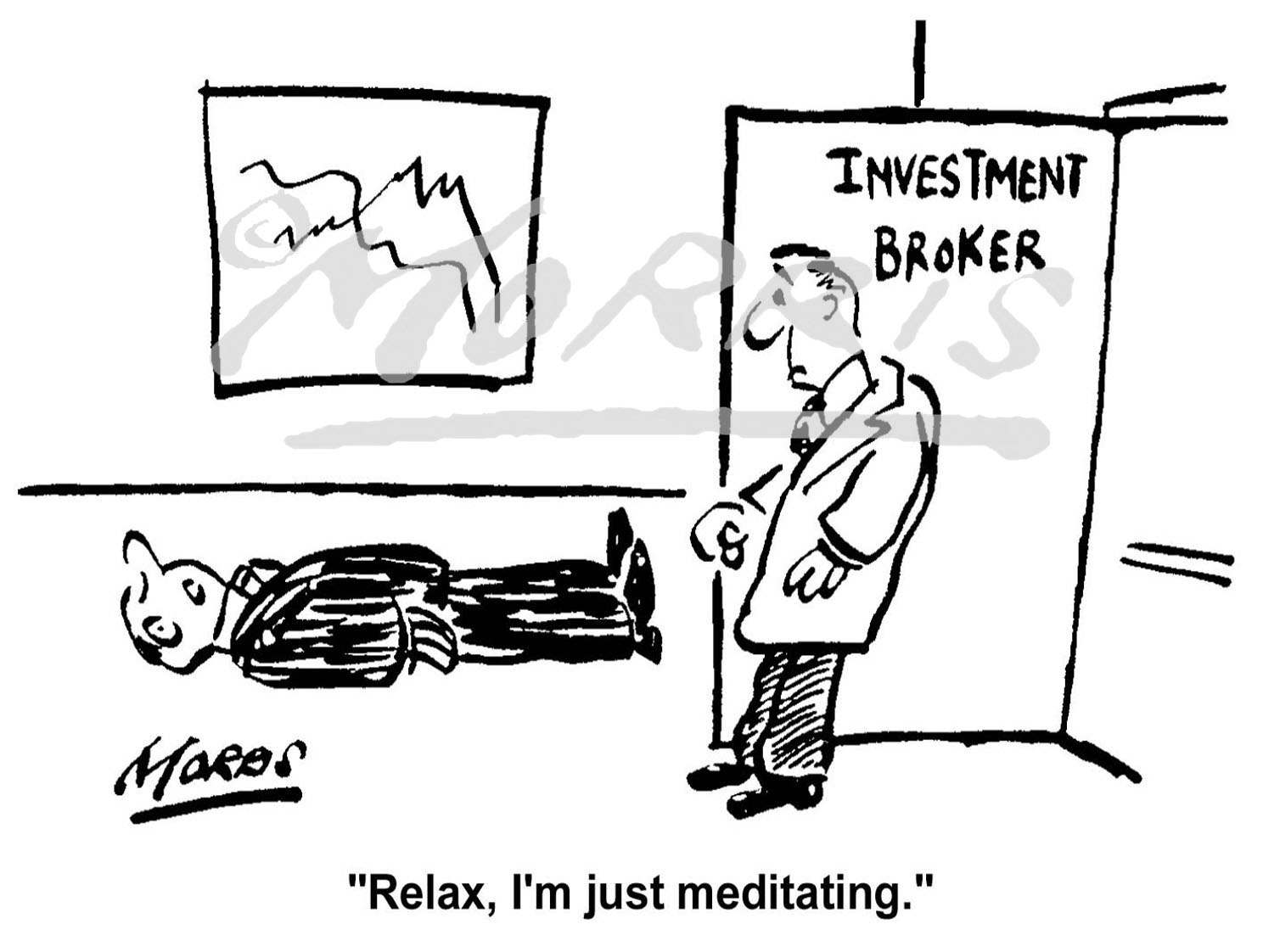 Investment Broker business cartoon Ref: 0195bw