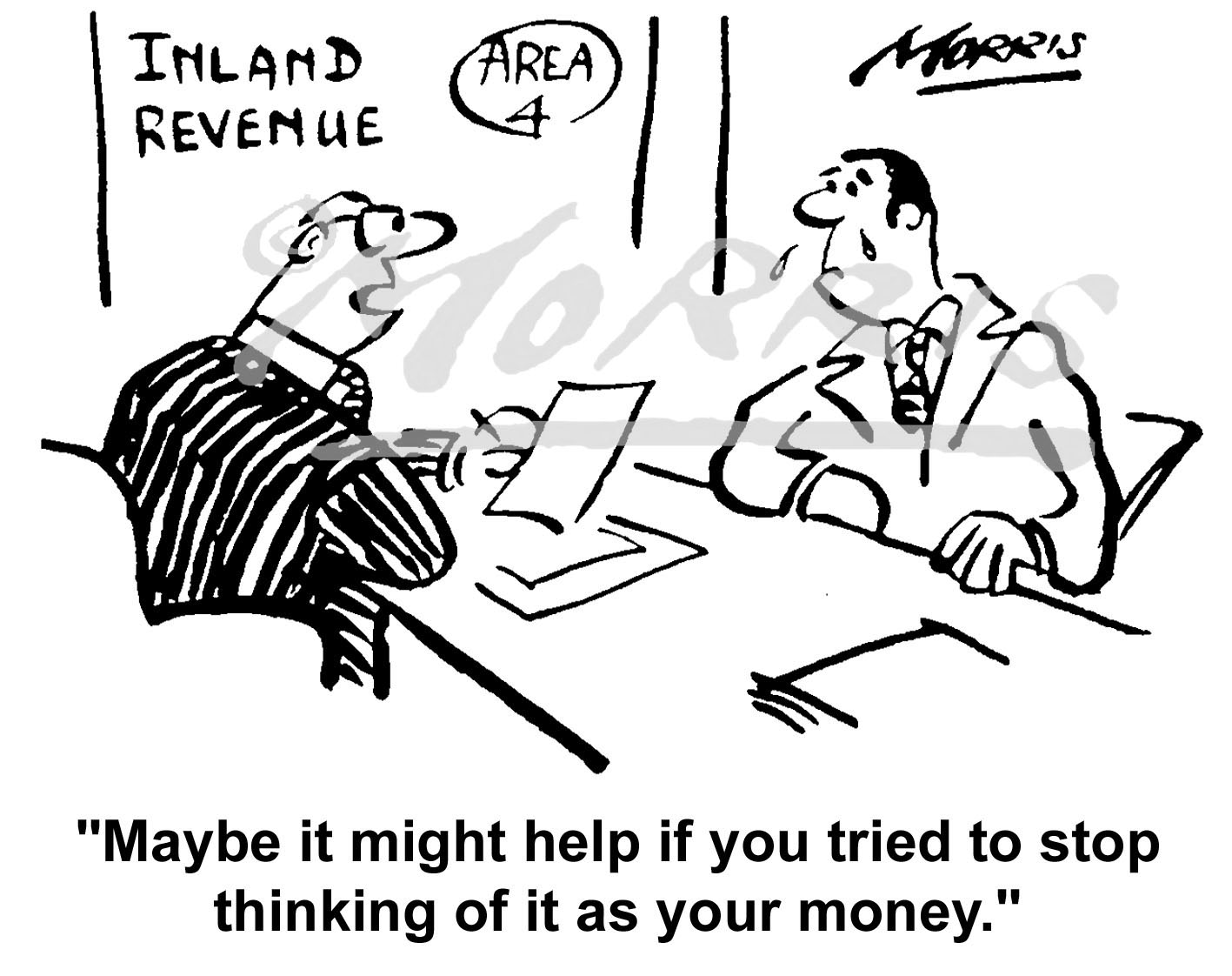 HMRC cartoon Ref: 0207bw
