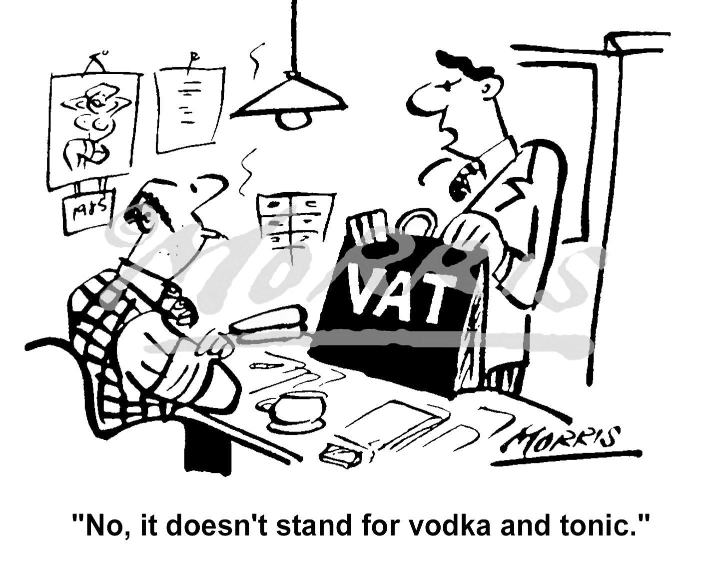 VAT business cartoon – Ref: 0212bw