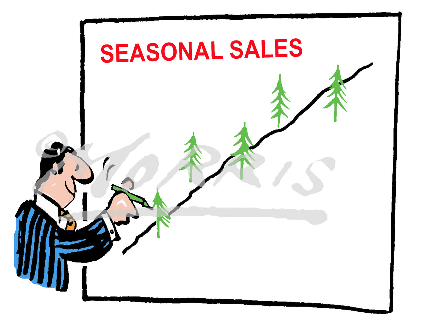 Christmas graph cartoon Ref: 0224col
