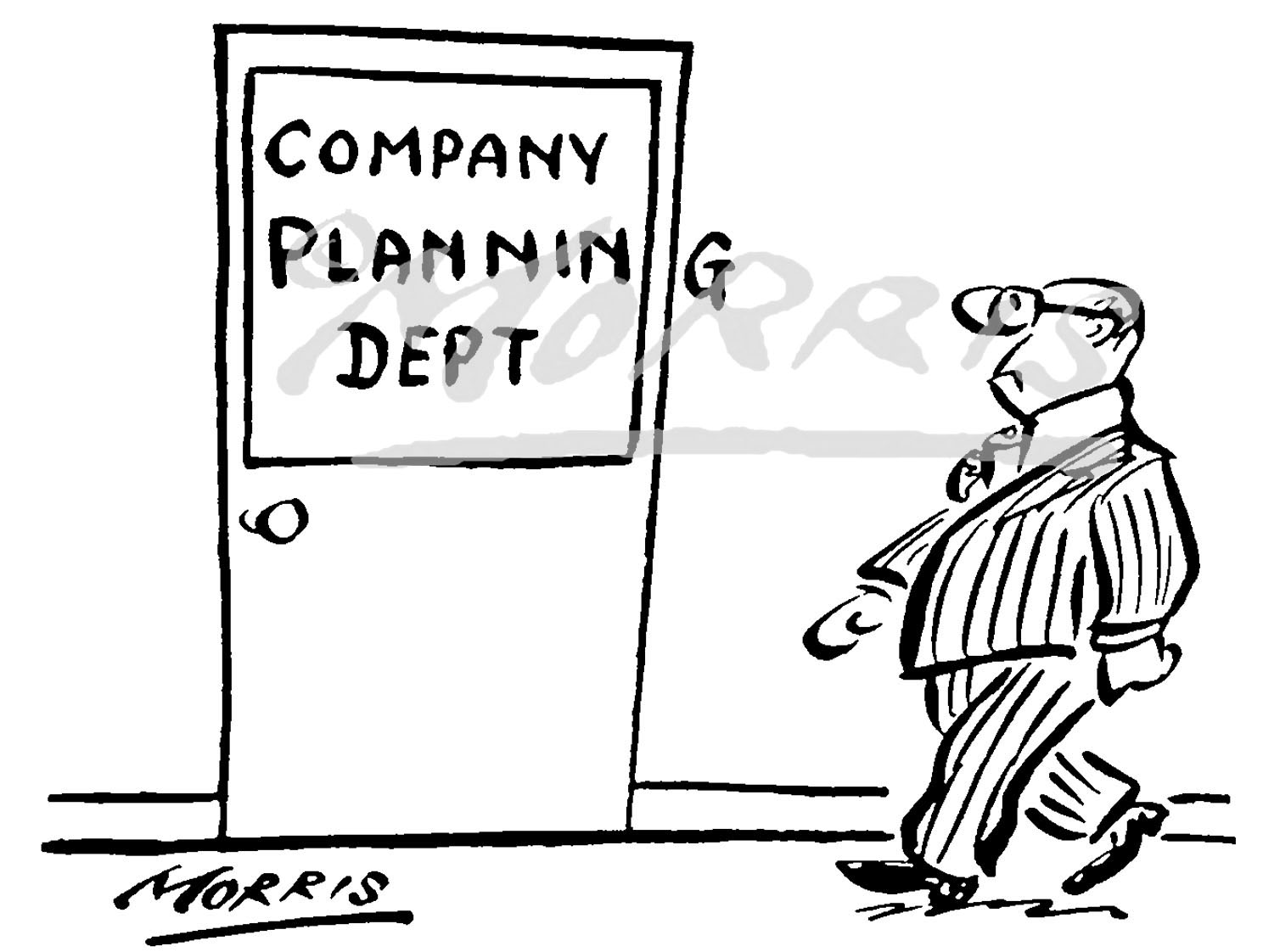Management Office business cartoon – Ref: 0235bw