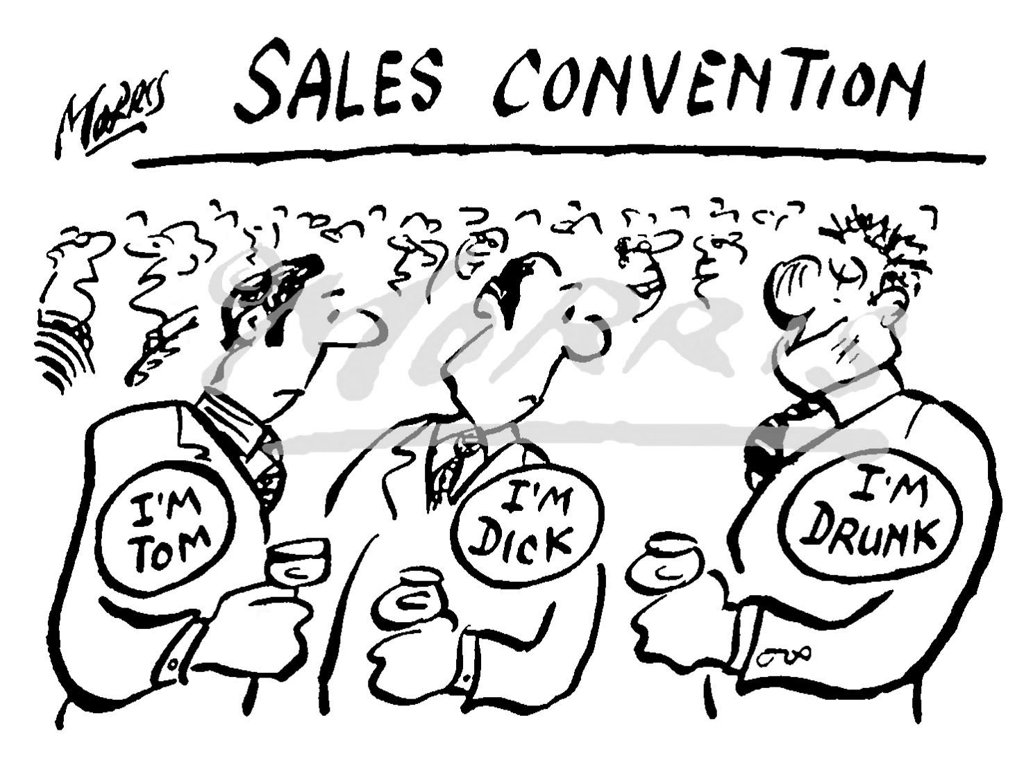 Sales convention business cartoon – Ref: 0239bw