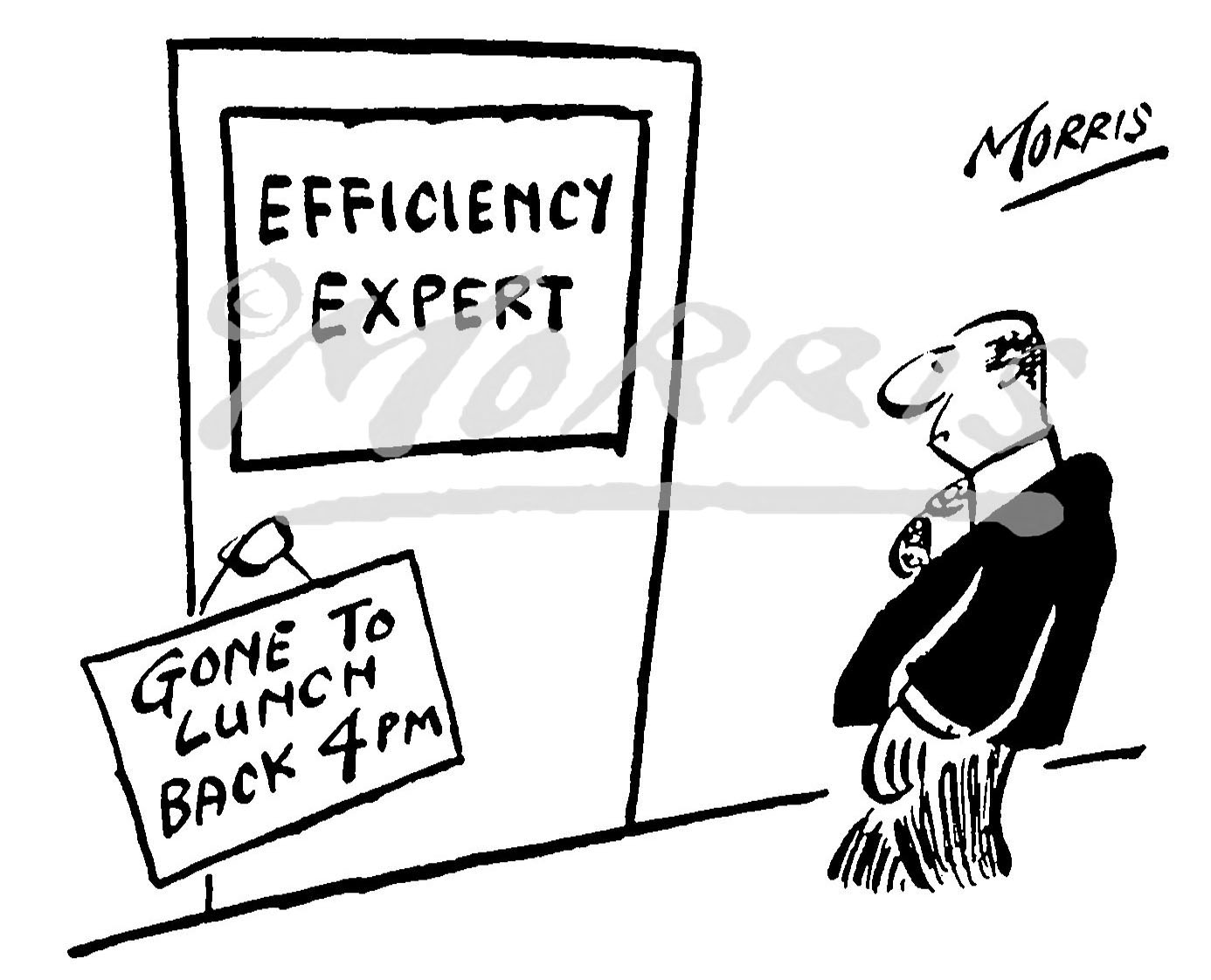 Efficiency consultant expert office business cartoon – Ref: 0245bw