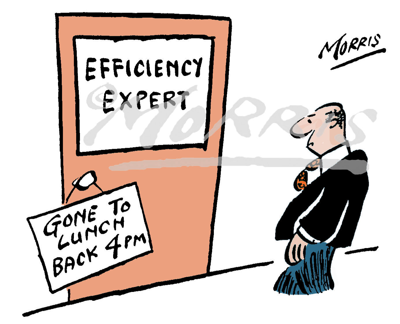 Efficiency consultant expert office business cartoon – Ref: 0245col