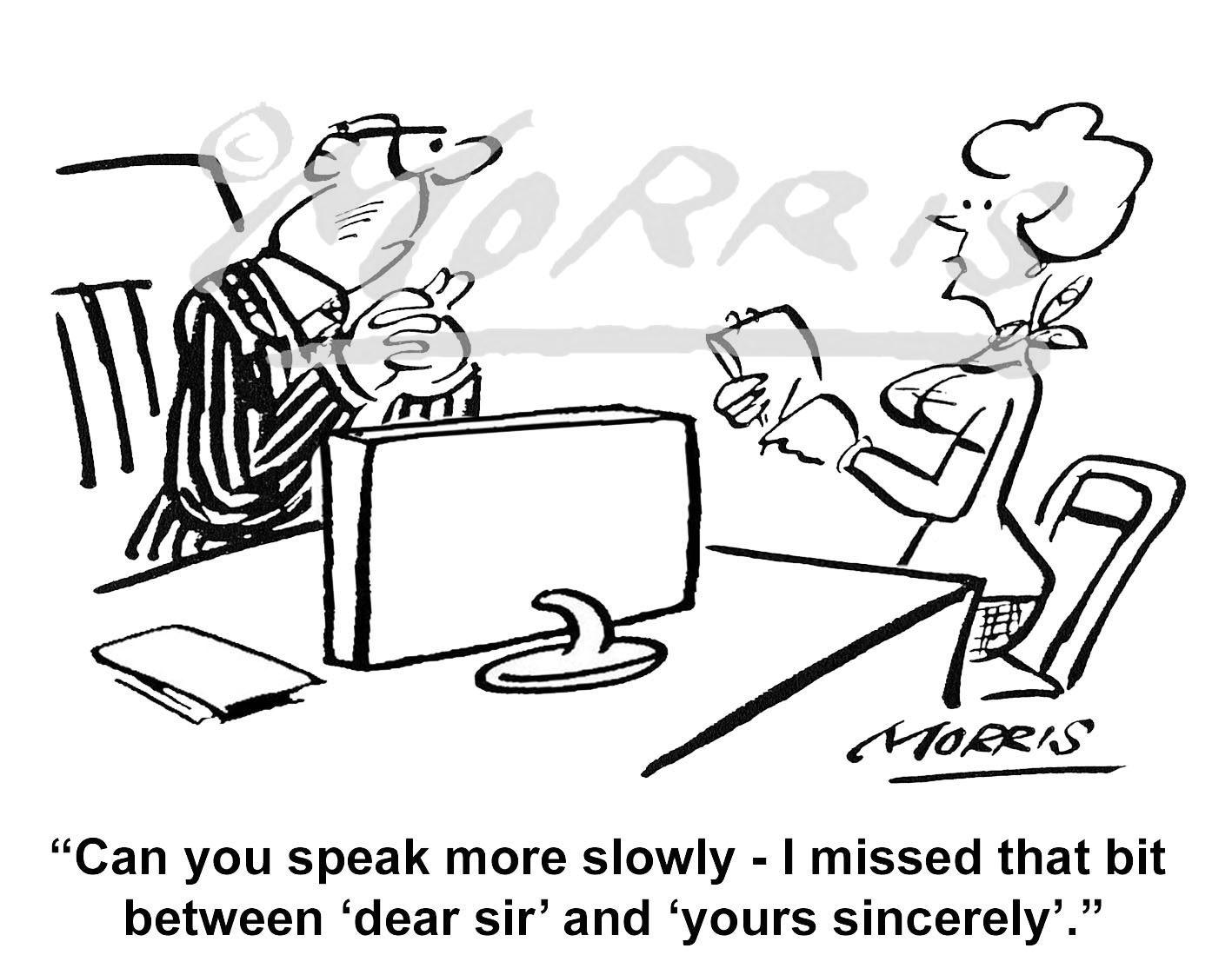 Manager Personal Assistant (PA) business cartoon – Ref: 0254bw