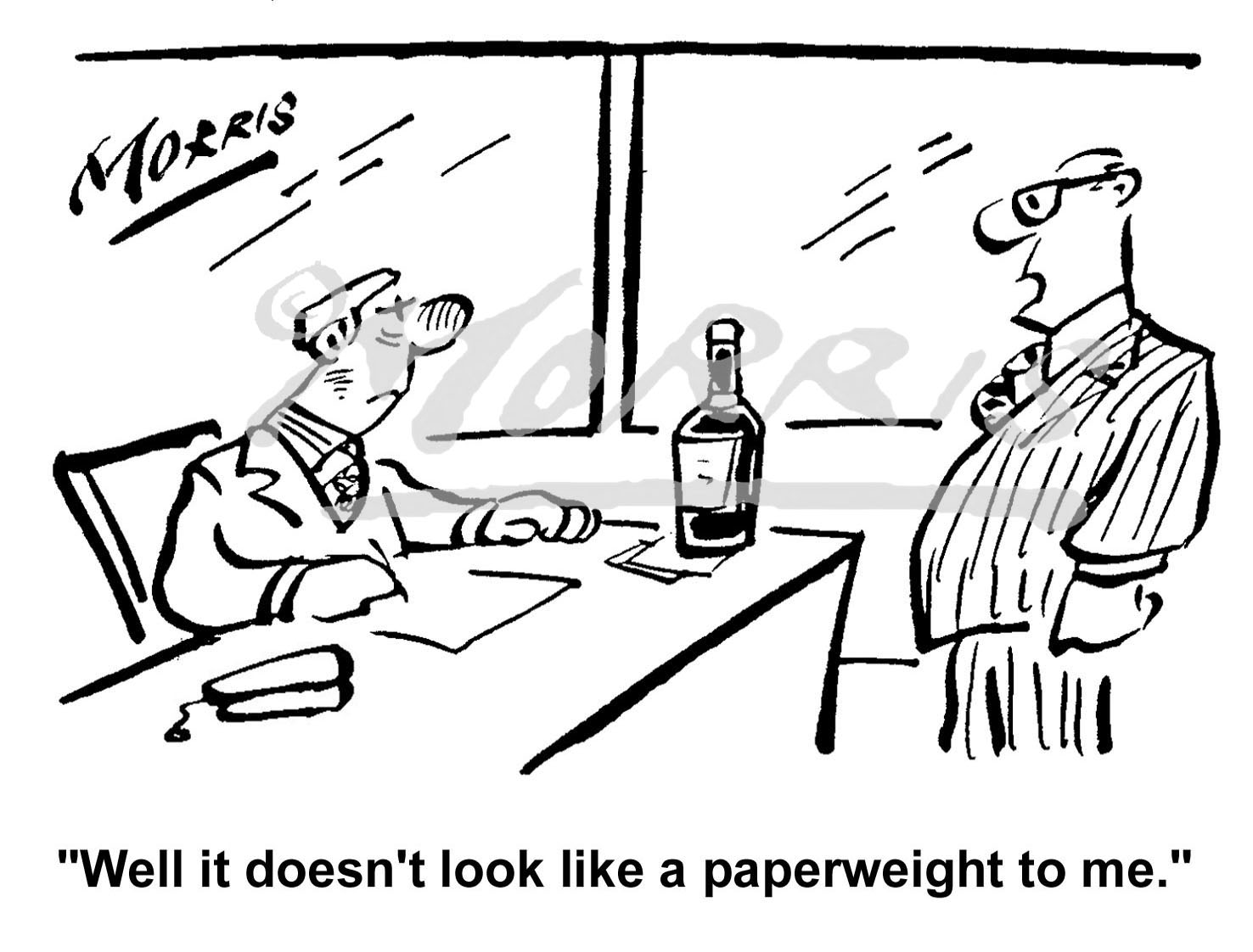Office Management business comic cartoon – Ref: 0257bw
