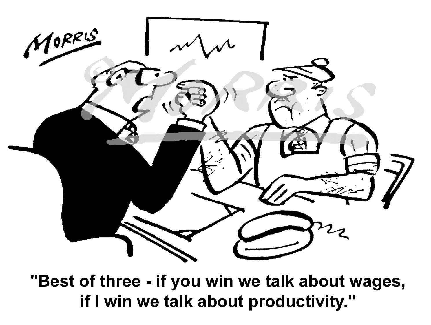 Manager & Worker cartoon – Ref: 0263bw