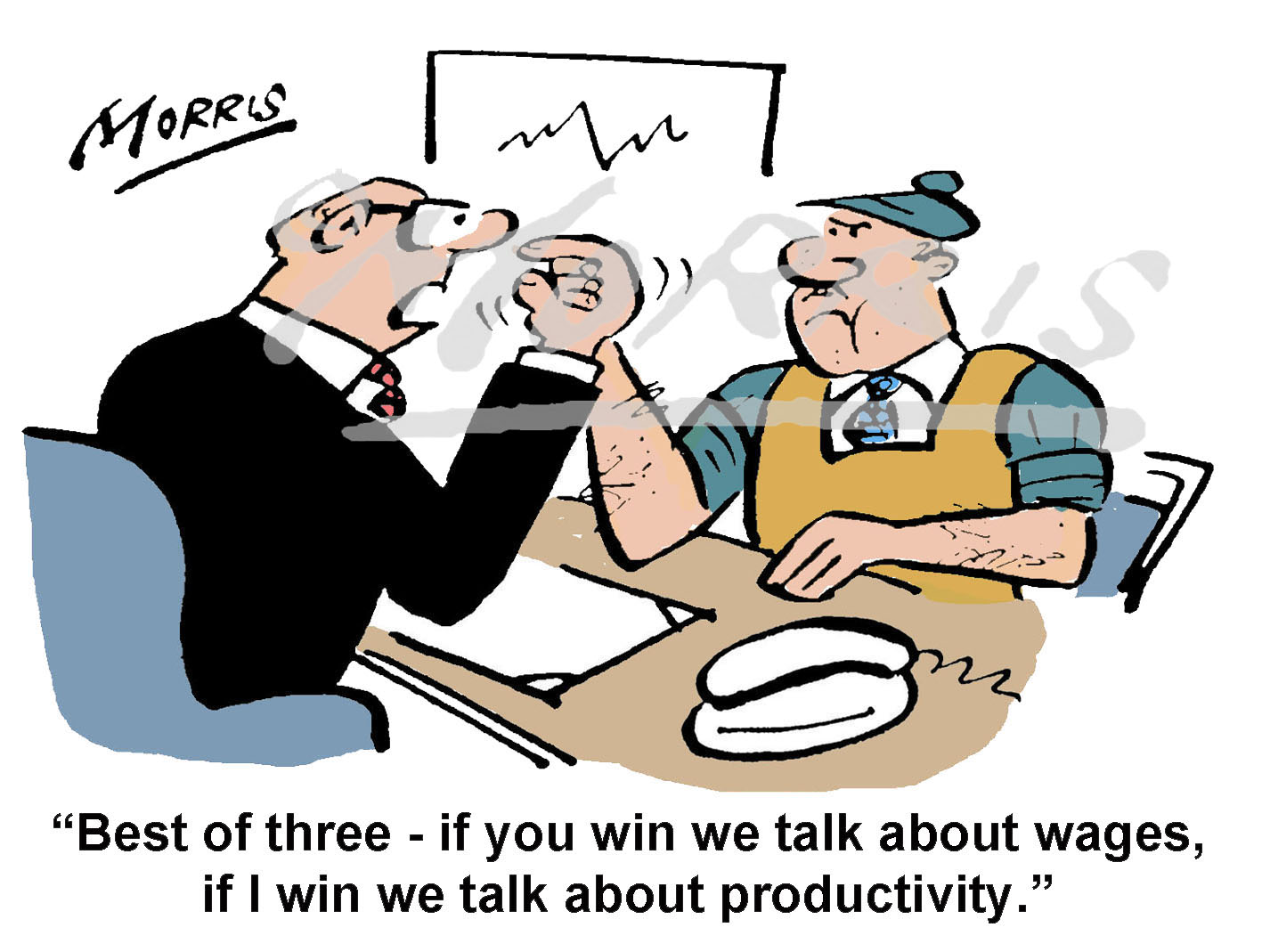 Manager & Worker cartoon – Ref: 0263col