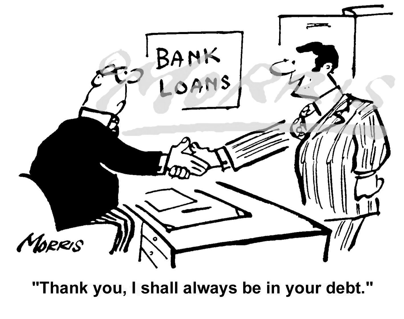 Bank loans cartoon – Ref: 0270bw