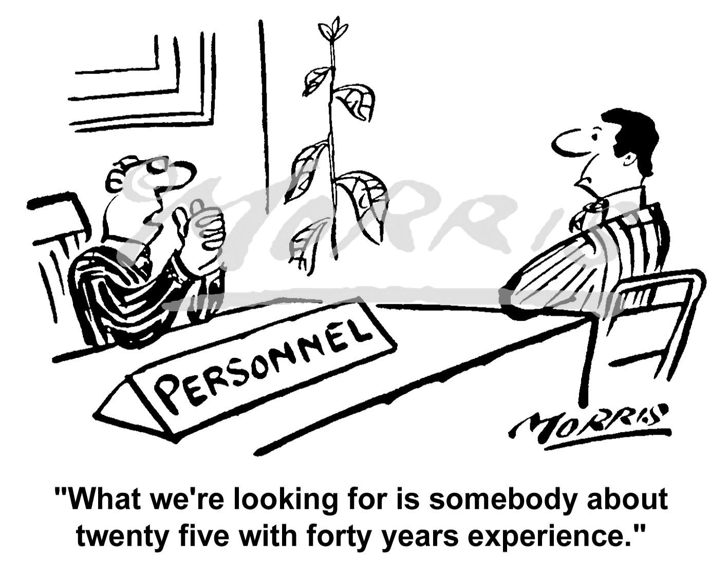 Human Resources Personnel Recruitment cartoon – Ref: 0282bw