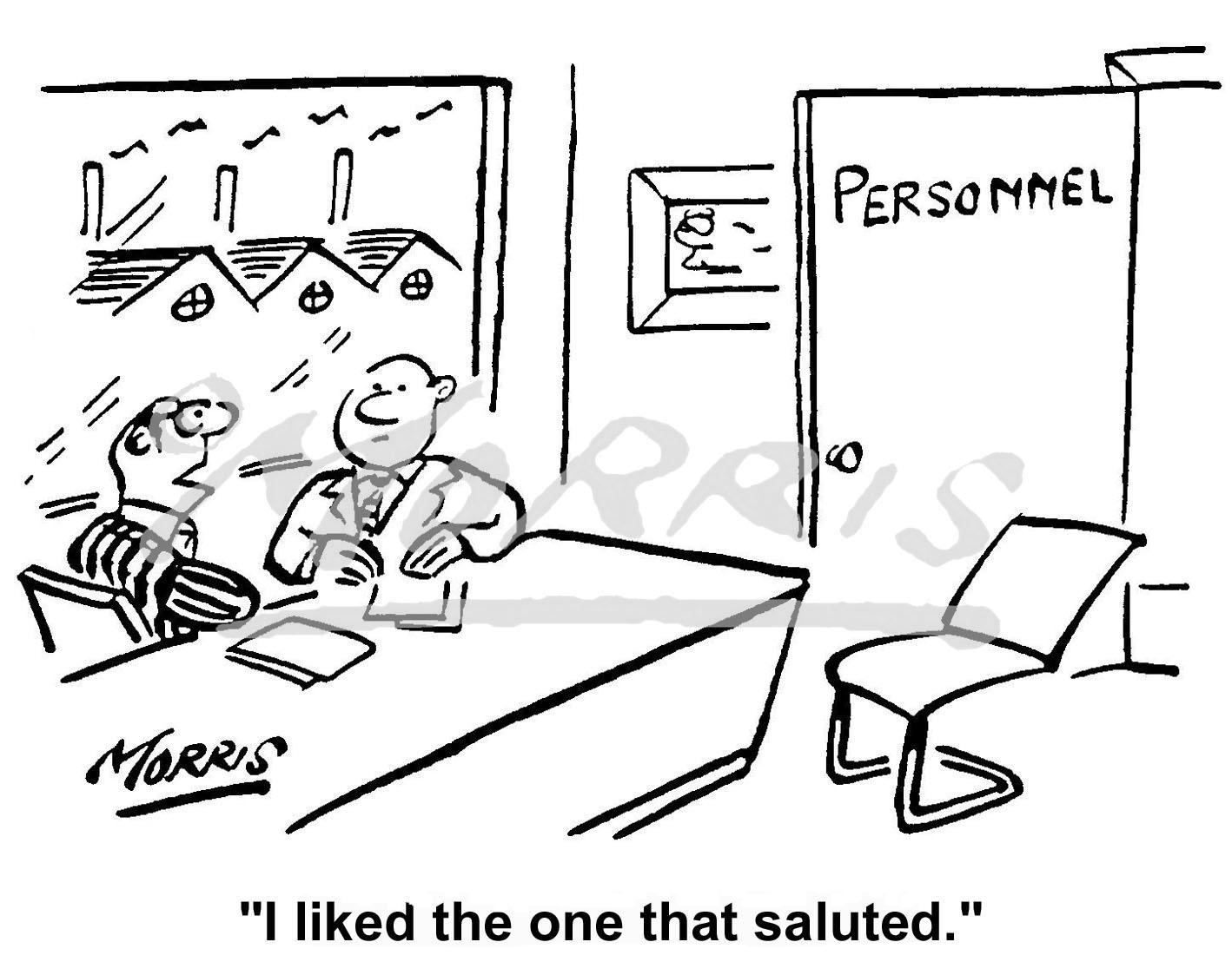 Personnel recruitment cartoon – Ref: 0294bw