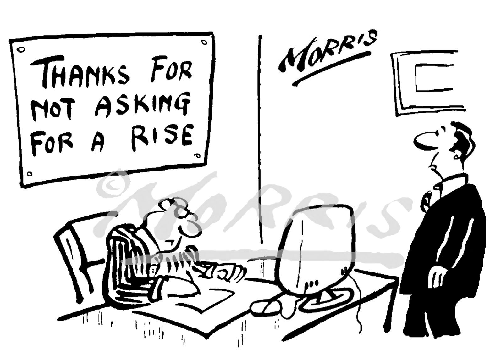 Manager Employee Wage rise cartoon – Ref: 0296bw