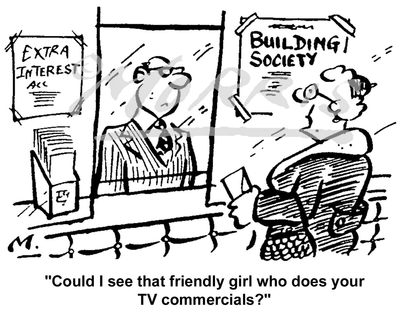 Building Society mortgage cartoon Ref: 0311bw