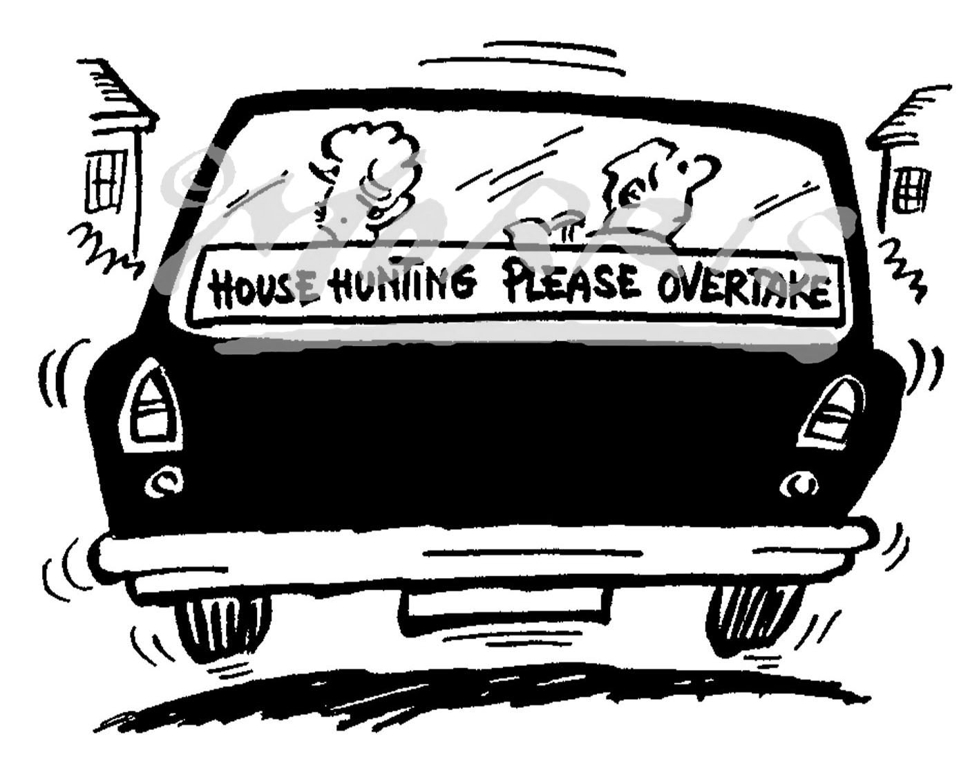 Real Estate Agent property comic cartoon Ref: 0318bw