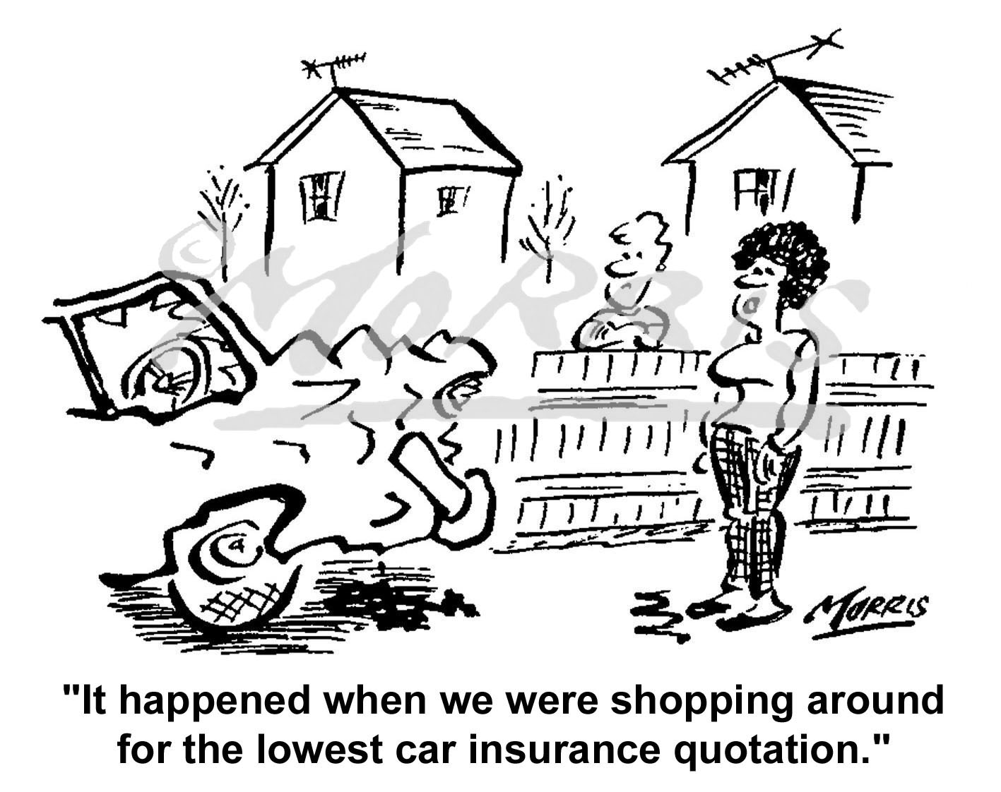 Motor insurance cartoon Ref: 0323bw