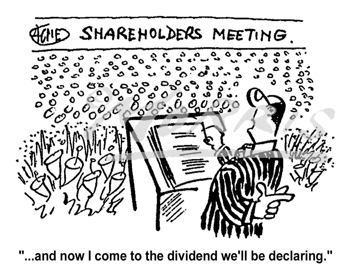 Stock market shareholders cartoon Ref: 0331bw