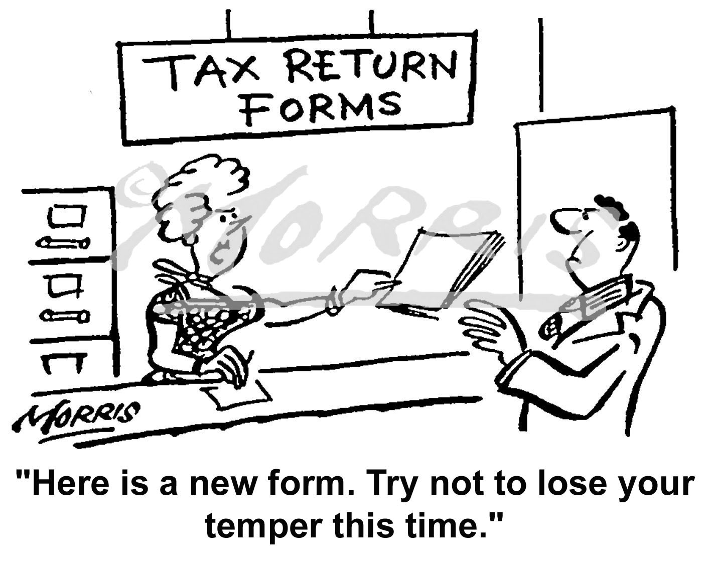 Taxation cartoon Ref: 0336bw