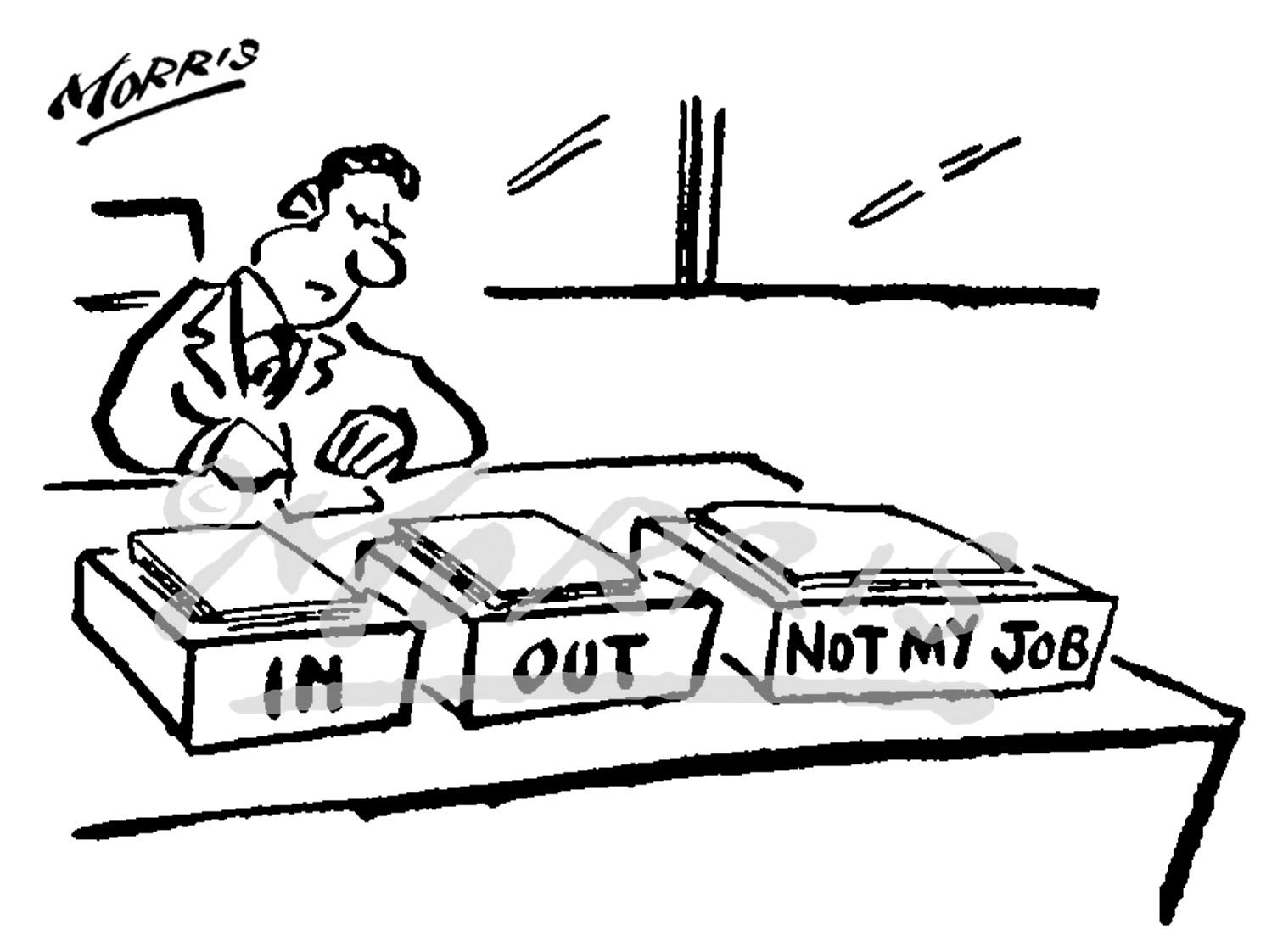 Office business comic cartoon Ref: 0344bw