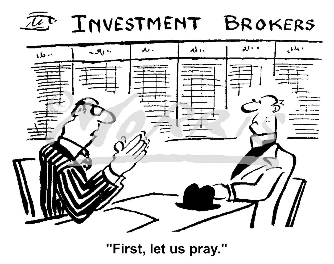 Investment broker business cartoon Ref: 0359bw