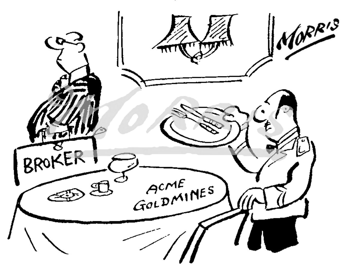 Broker stock market cartoon Ref: 0406bw