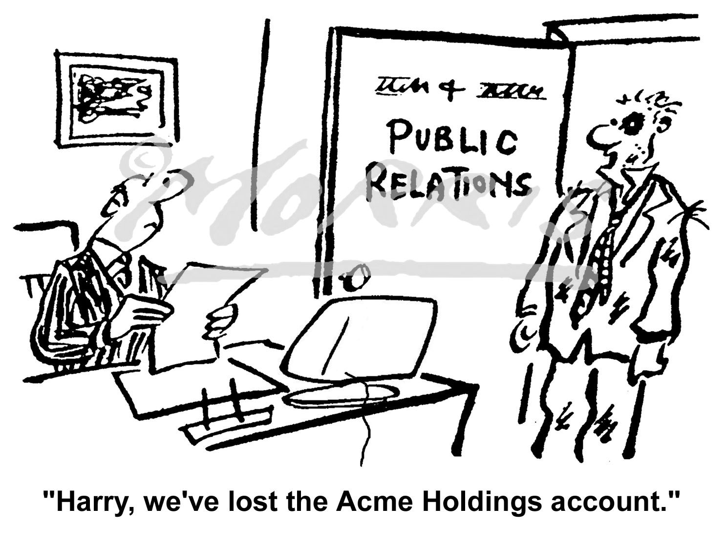 Public relations business cartoon – Ref: 0424bw