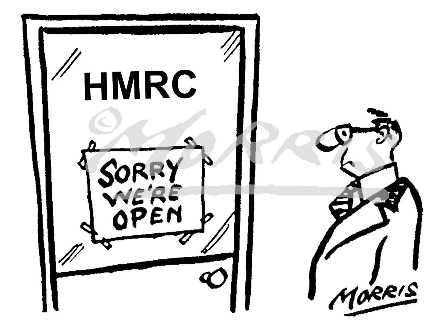 HMRC comic cartoon – Ref: 0426bw