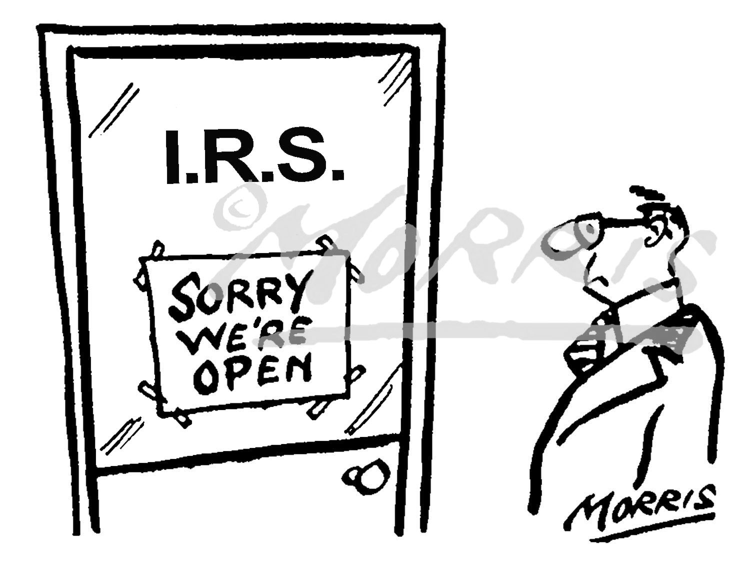 IRS taxation office comic cartoon – Ref: 0426bwus