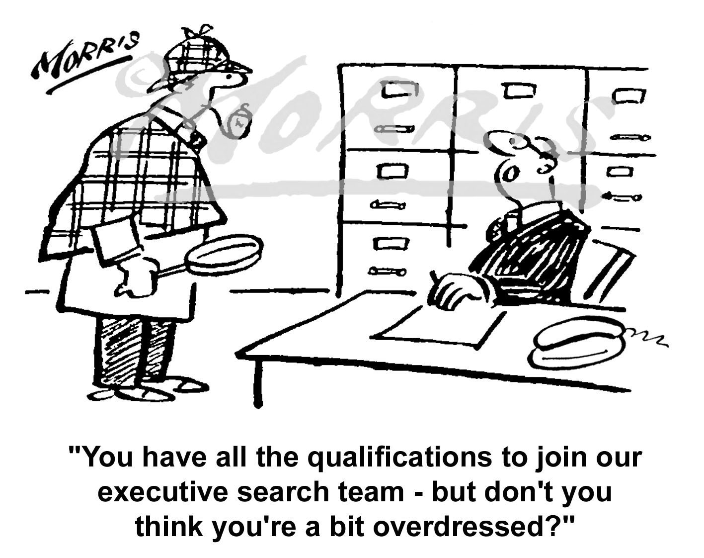 Executive search business cartoon Ref: 0431bw