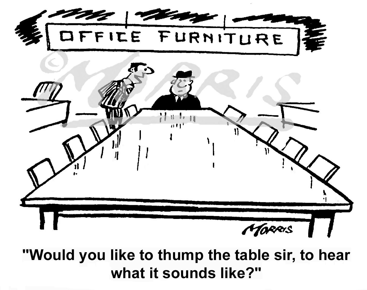 Office furniture cartoon Ref: 0432bw