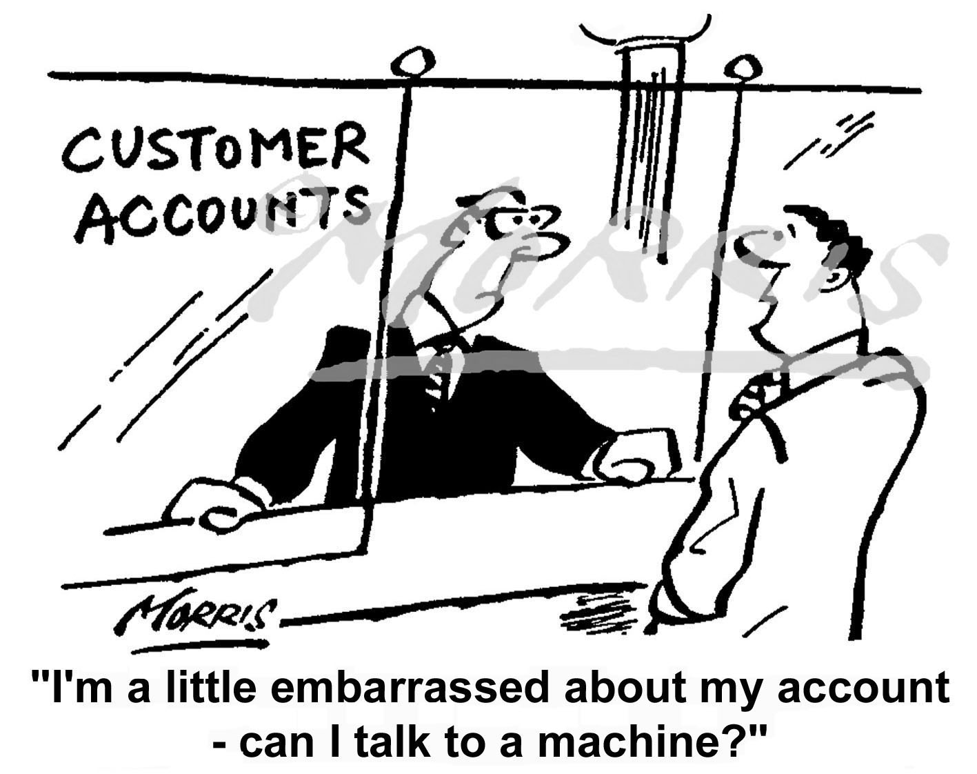 Personal bank account cartoon Ref: 0438bw