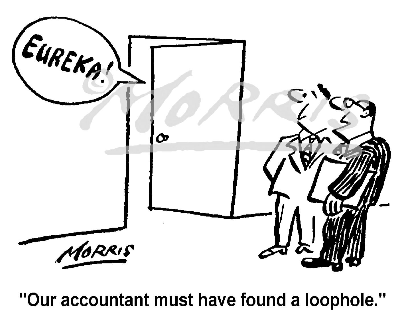Company accountant business cartoon Ref: 0474bw