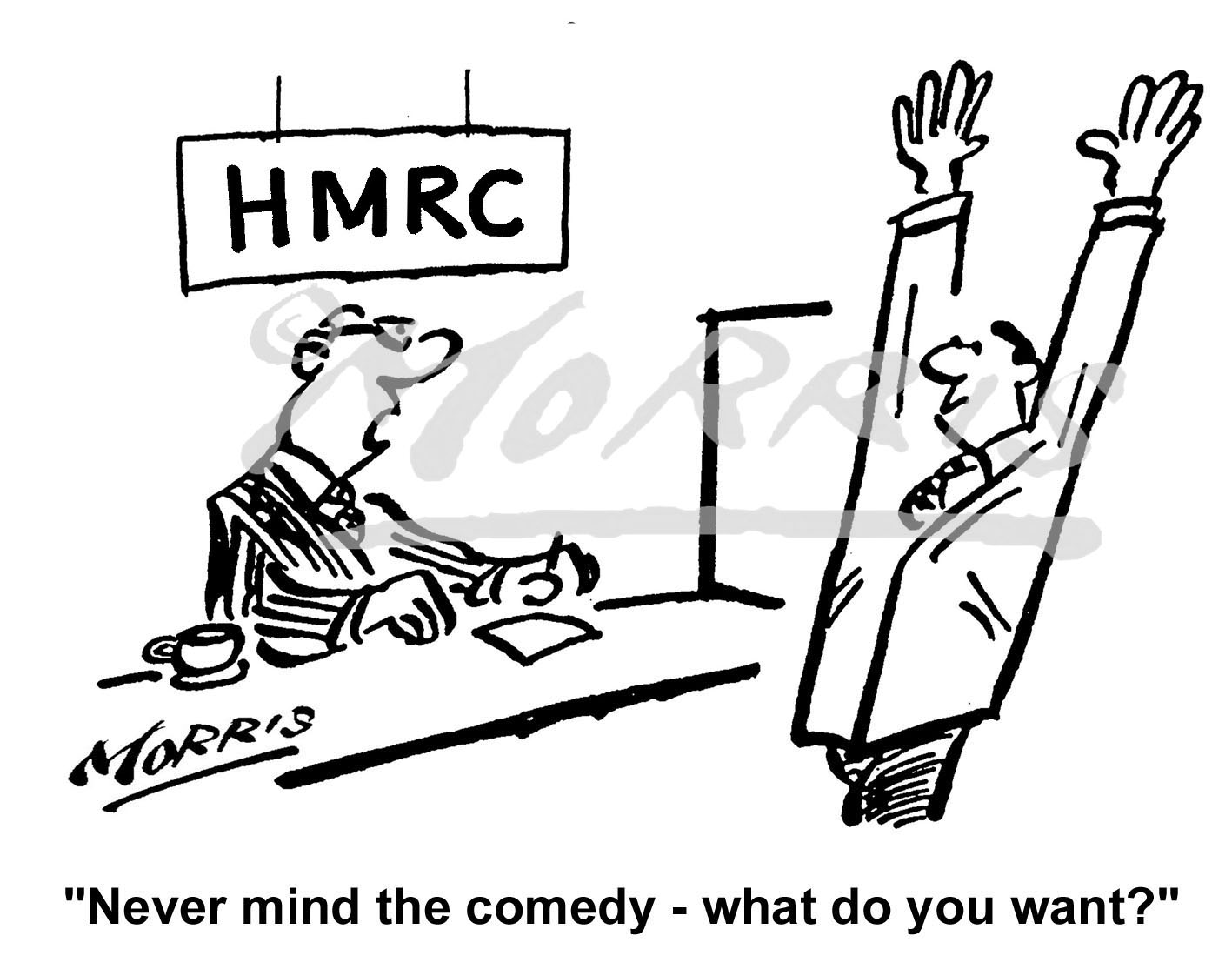 HMRC cartoon, Tax cartoon, Taxation cartoon – Ref: 0484bw