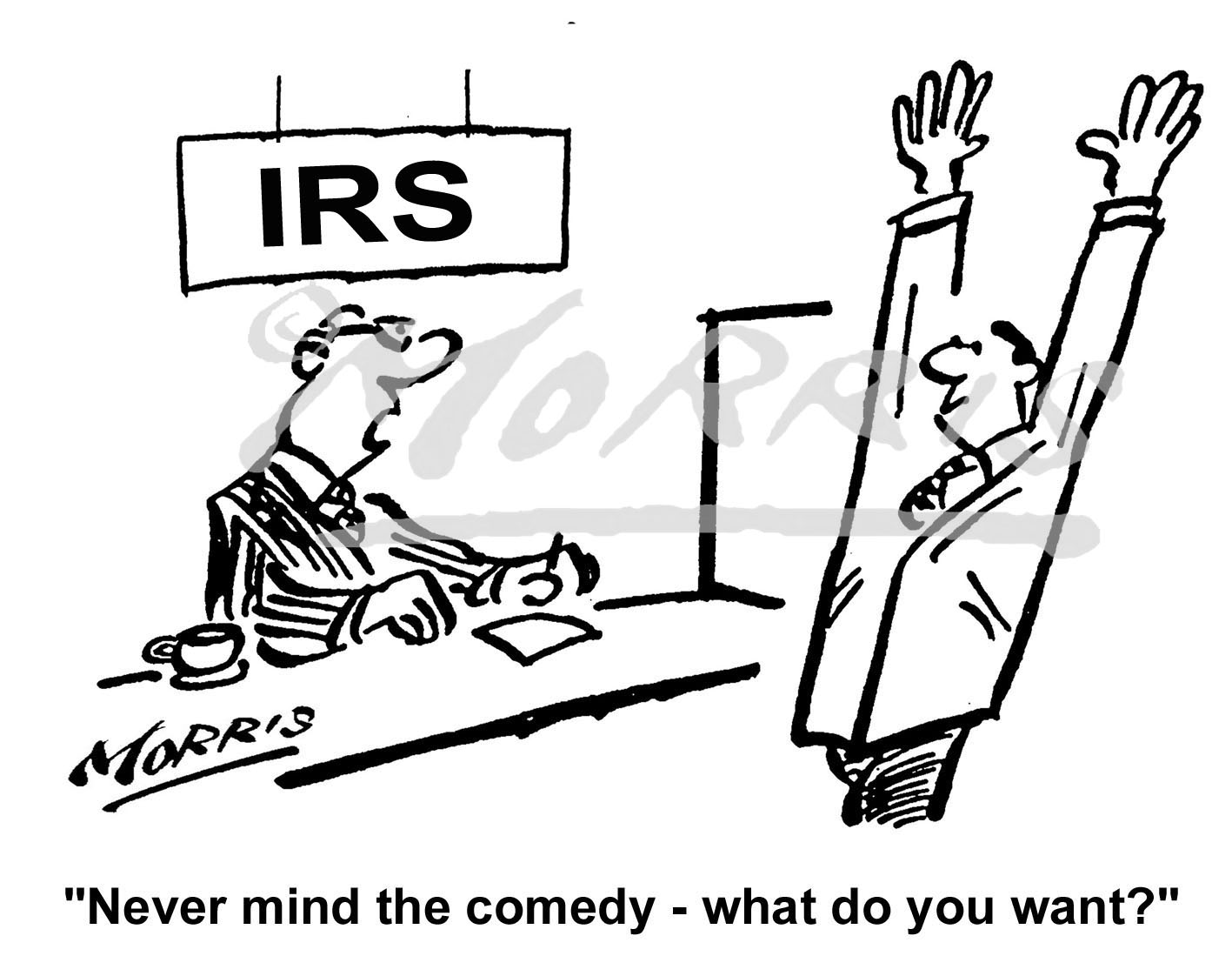 IRS cartoon – Ref: 0484bwus