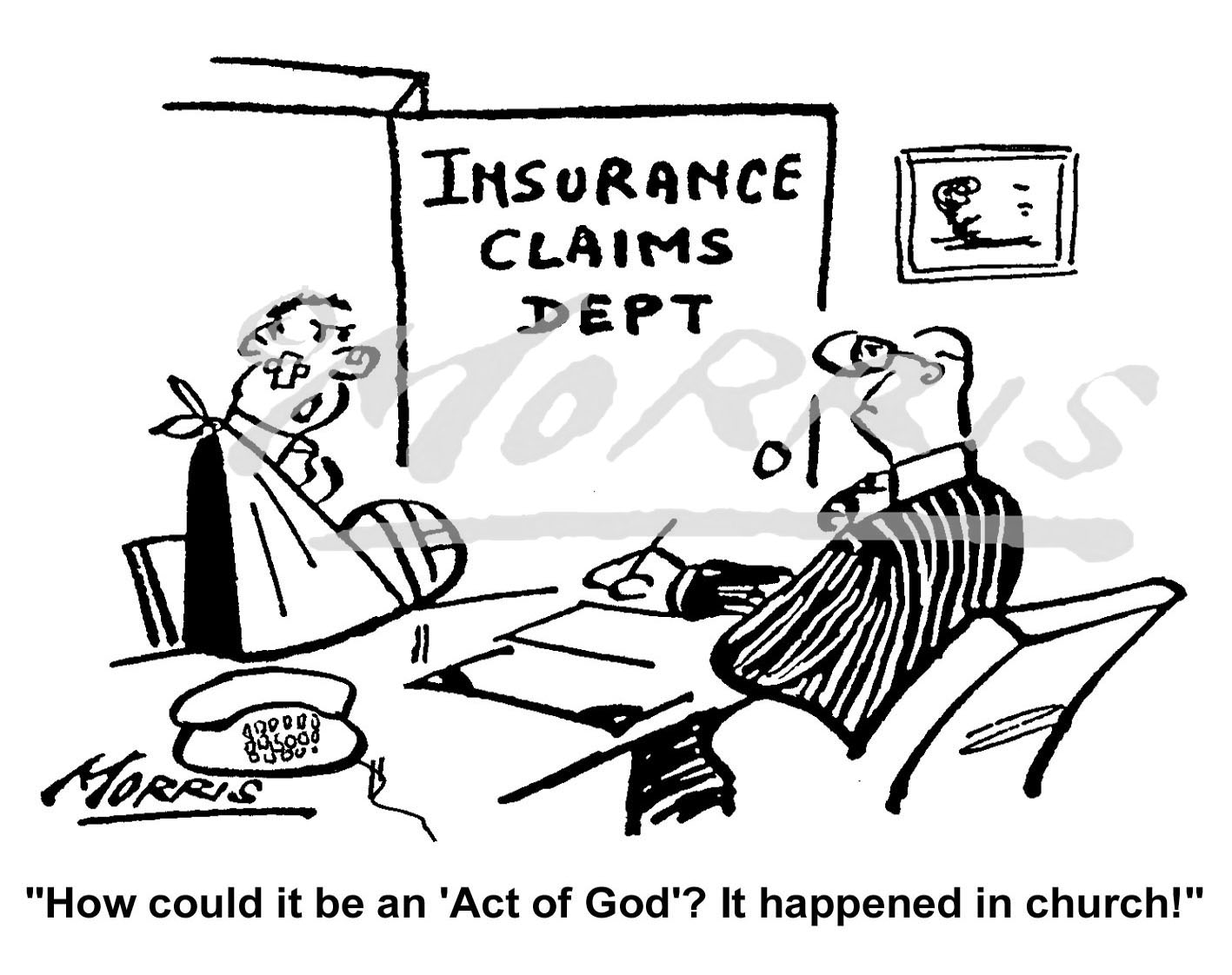Insurance claim cartoon Ref: 0491bw