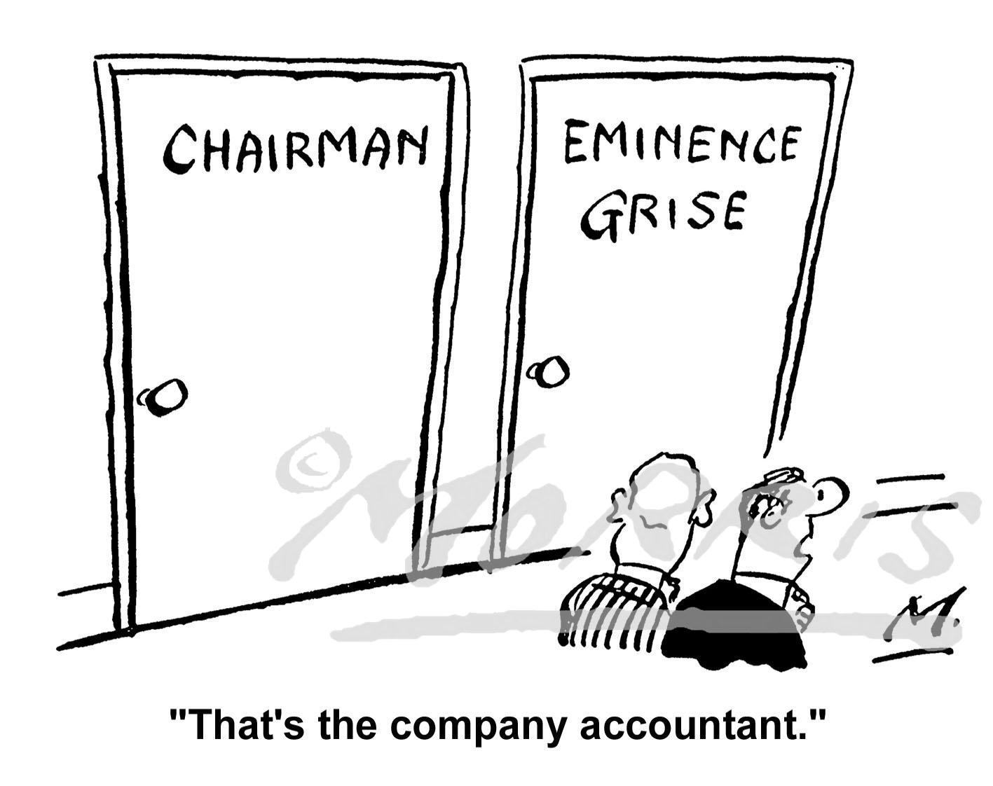 Accountant cartoon – Ref: 0580bw