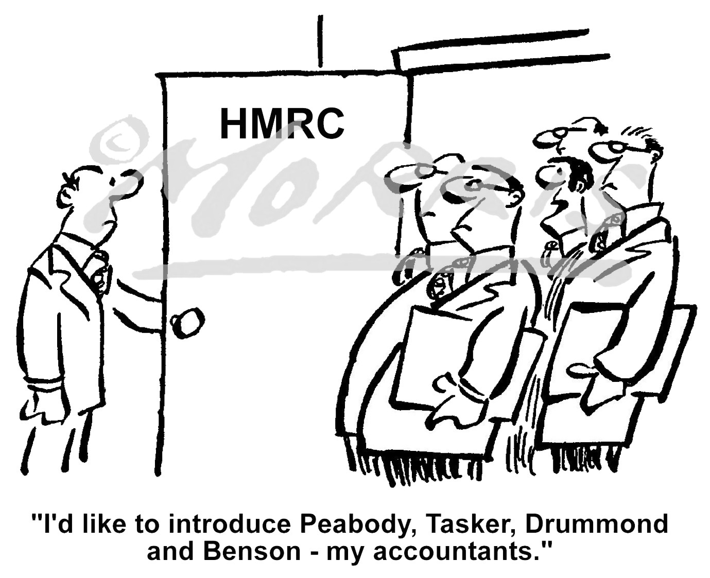 HMRC accountants business cartoon Ref: 0600bw