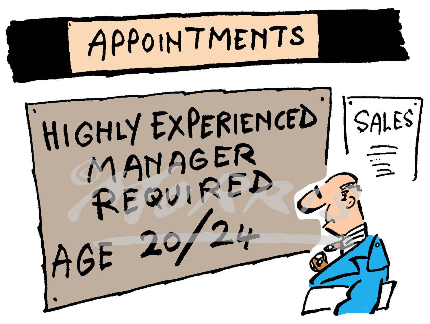 Appointment experienced manager cartoon Ref: 0610col